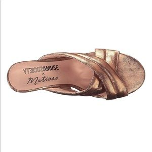 6e34975b9e8 Amuse Society Shoes - AMUSE SOCIETY X MATISSE Shine On Sandal ROSE GOLD